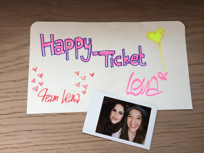 Team Lena Happy Ticket und Polaroid