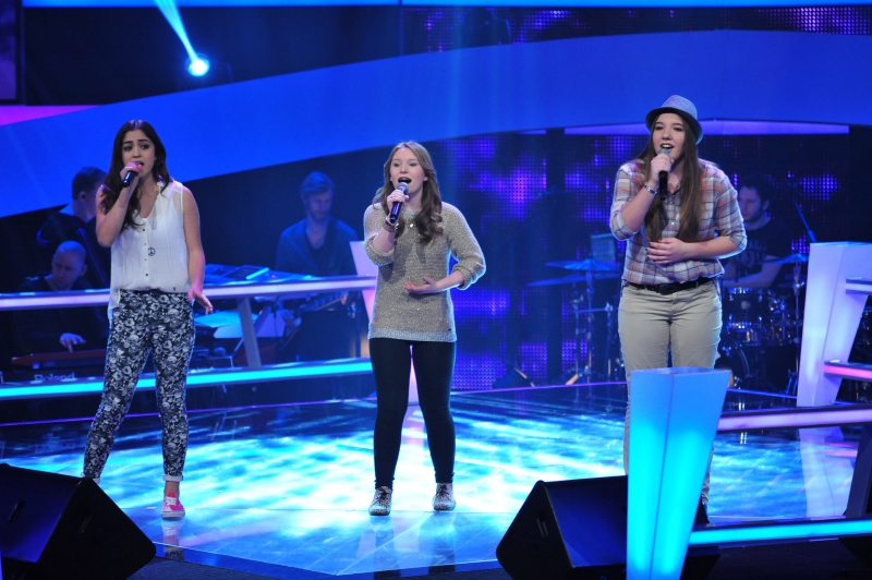 Julia, Caitlin und Selin Battleshow The Voice Kids